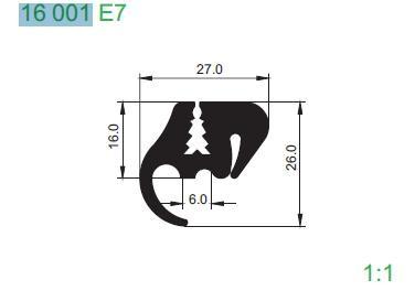 PROFIL 16001 E7 L21000 MM