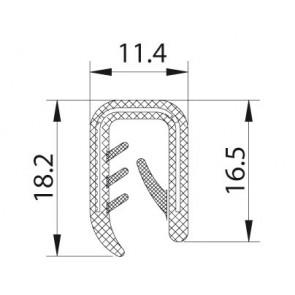 """PROFIL """"U"""" KEDER  11,4x18,2 4mm-6mm"""